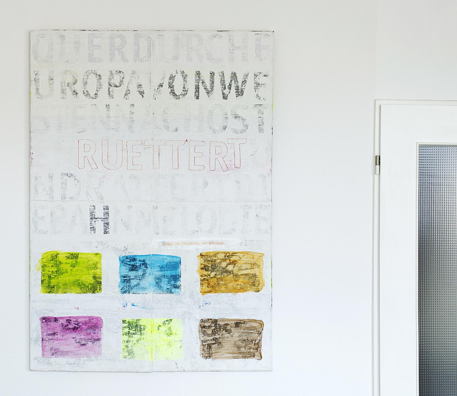 Der Blitzzug I, Acryl auf Leinwand, 100 x 140 cm •