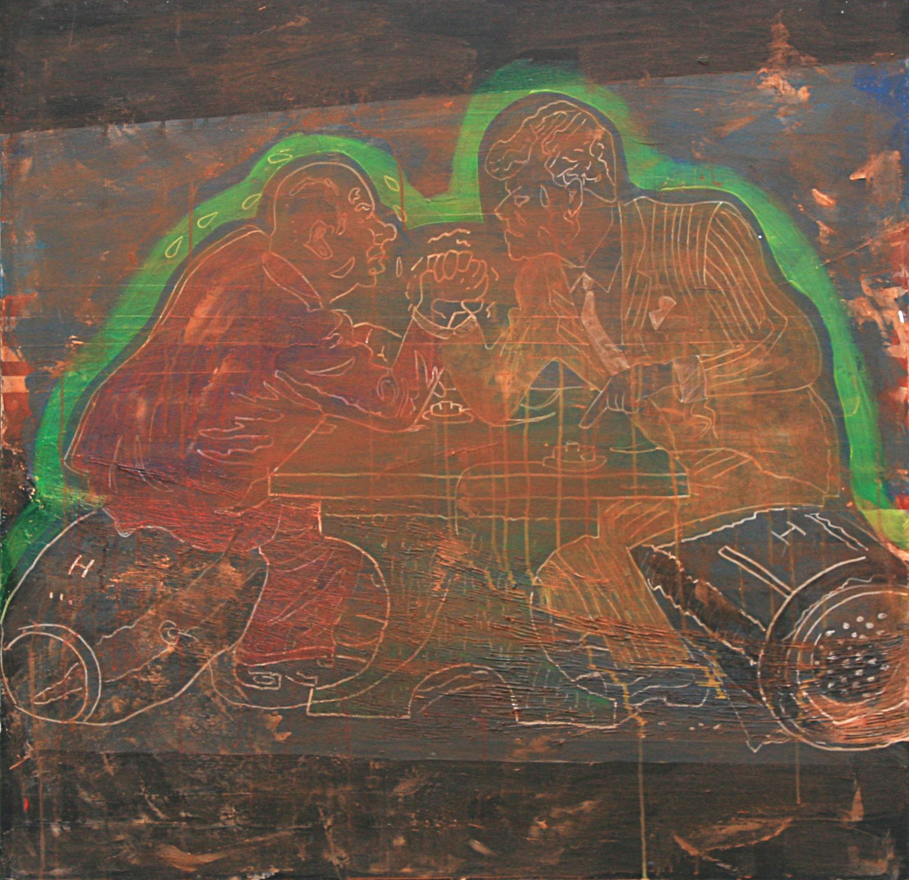 Hoher Einsatz, Acryl auf Leinwand, 120 x 120 cm •