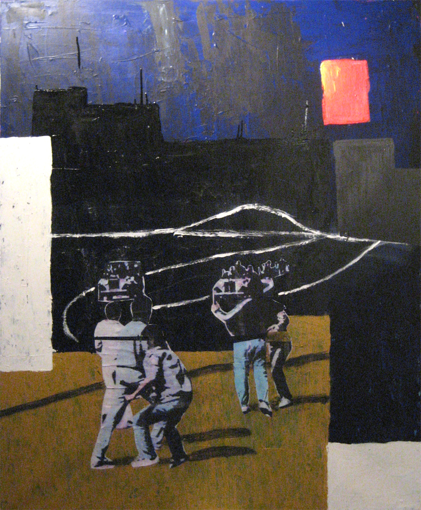 Nahe im Osten, Acryl auf Leinwand, 120 x 100 cm •